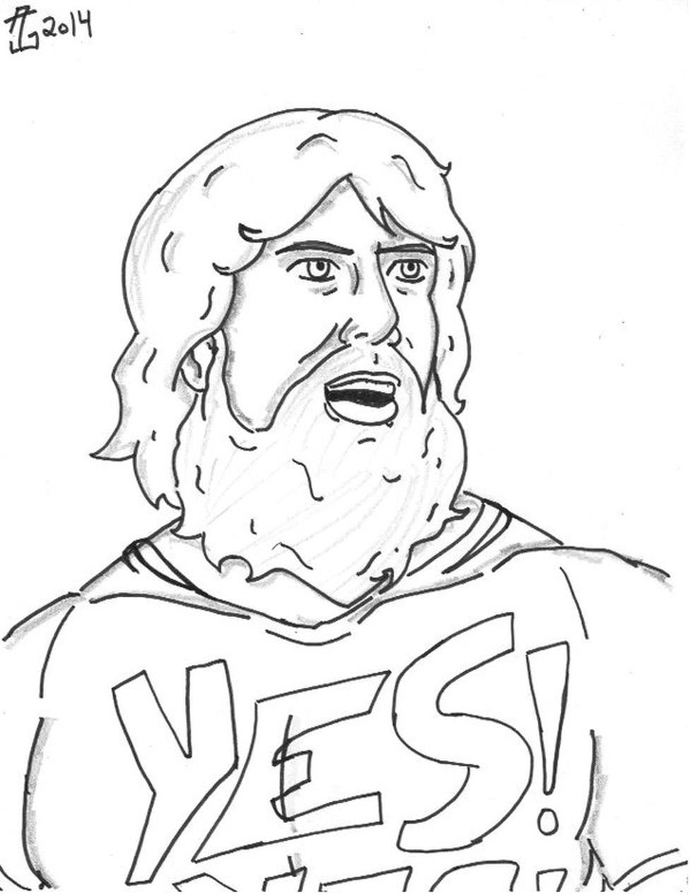 Daniel bryan coloring pages for Aj styles coloring pages