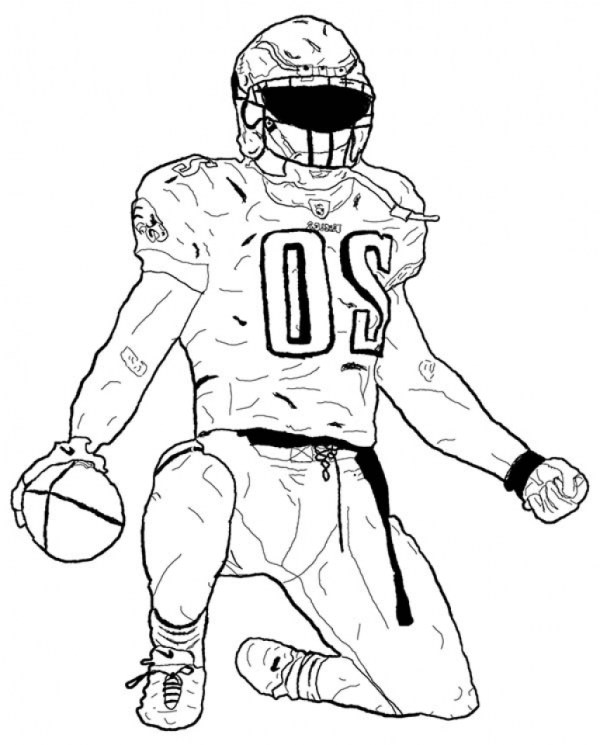 football player coloring page # 67