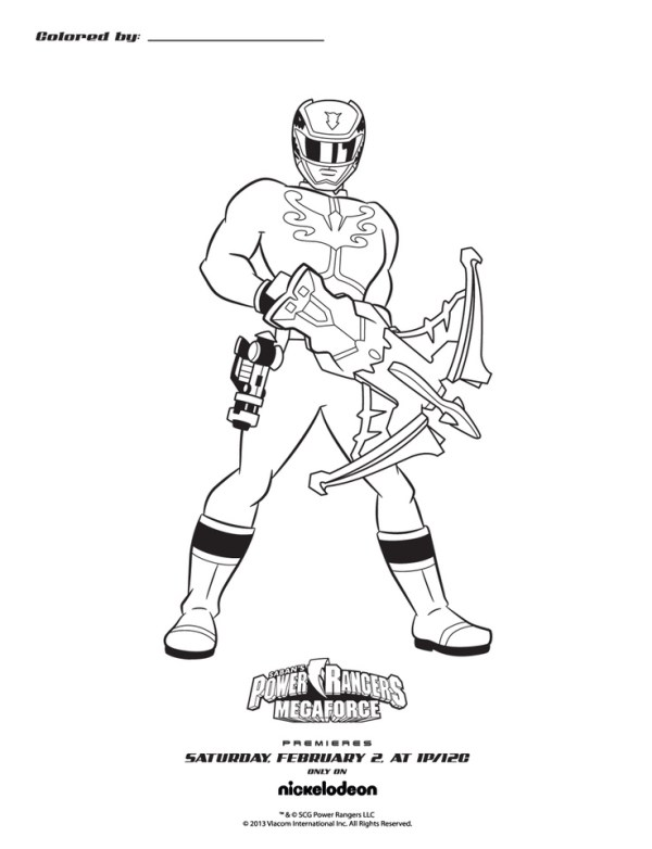power rangers megaforce coloring pages # 12