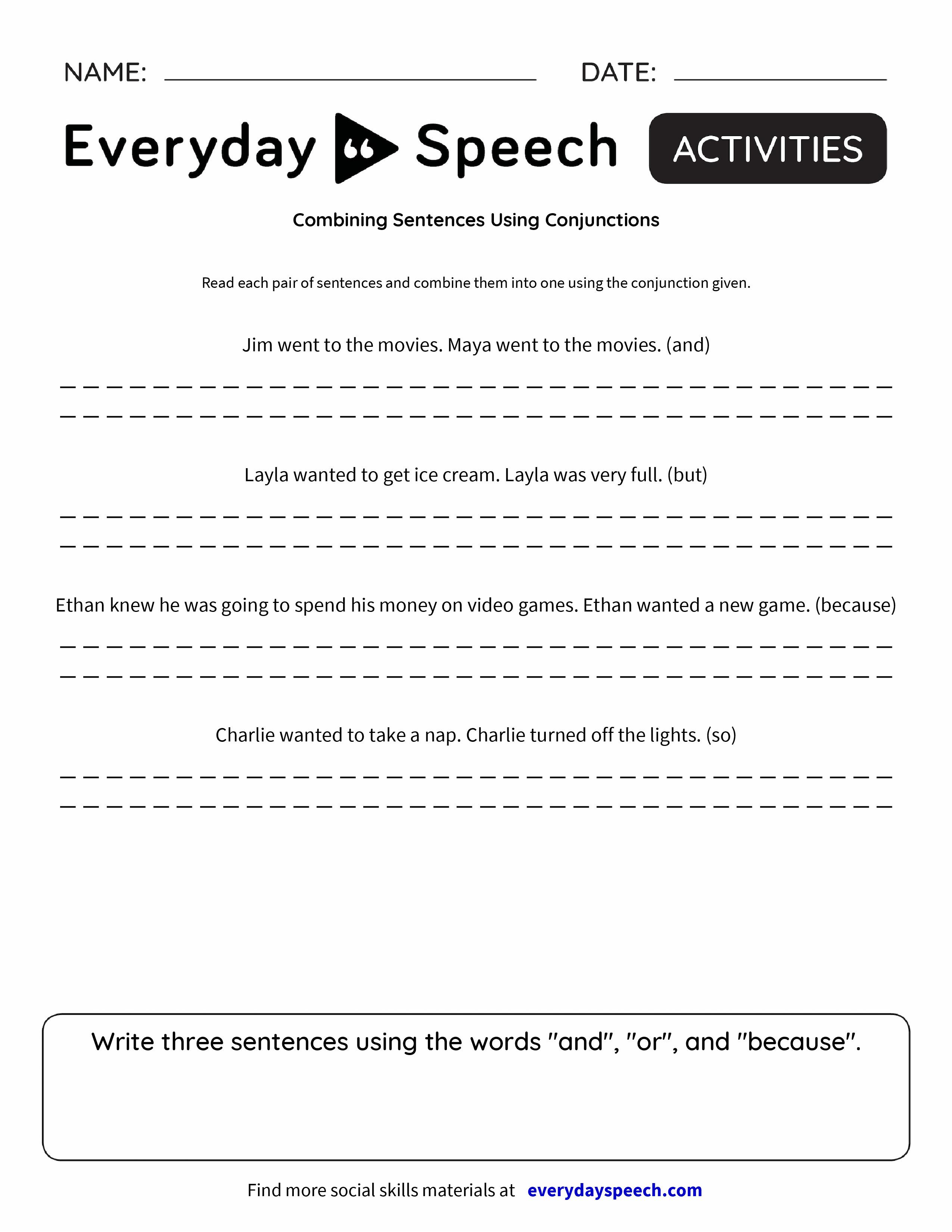 B G Sentences Us G C Juncti S Everyd Y Speech