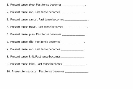 Past Tense Ed Worksheet Path Decorations Pictures Full Path