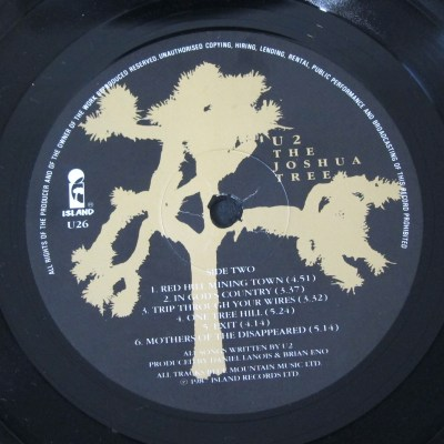 U2 Joshua Tree Island Records label – Every record tells a ...