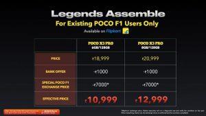 POCO F1 exchange POFO X3 Pro discount
