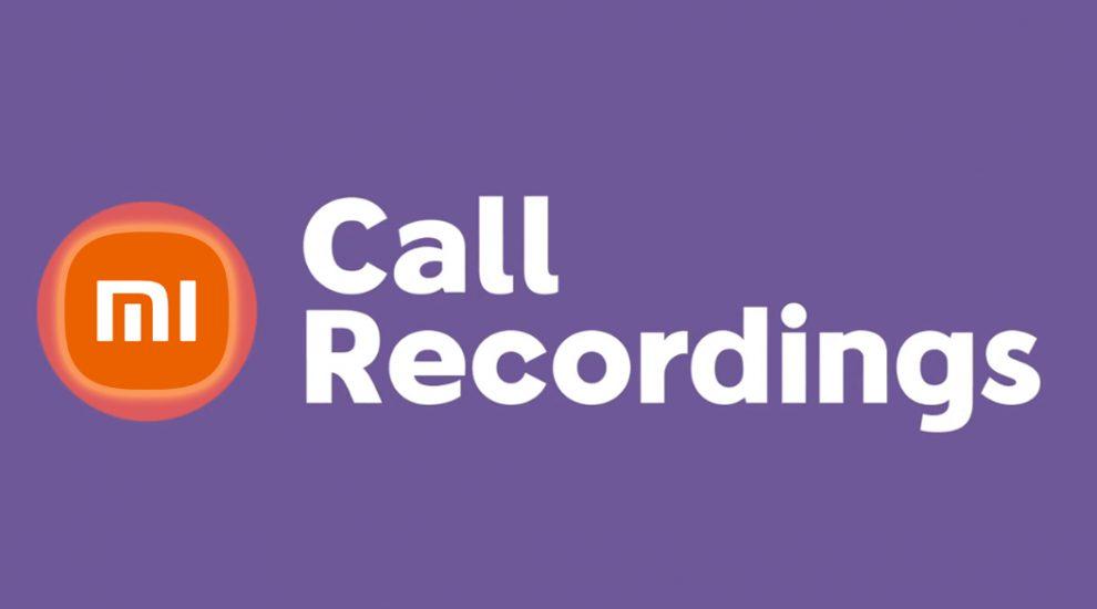 xiaomi Call recording banner
