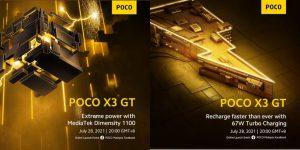 POCO X3 GT Dimensity 1100