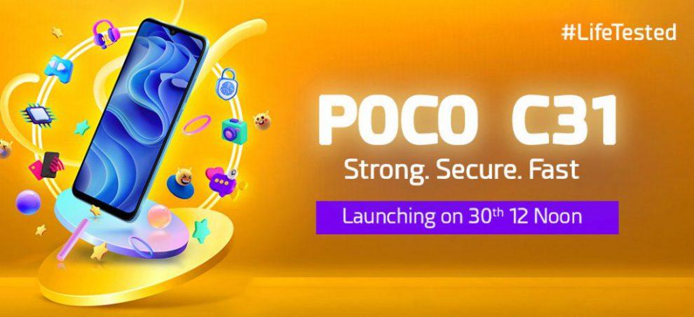 POCO C31 India launch date