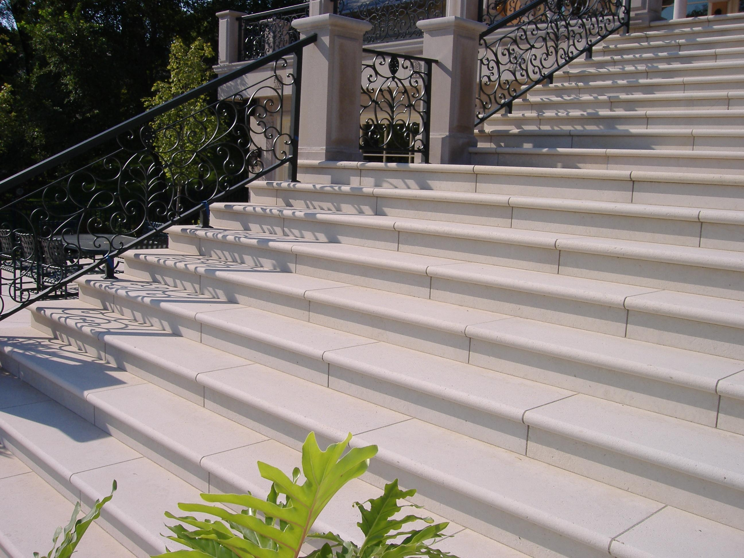 Treads And Risers Eden Valders Stone | Exterior Stone Stair Treads | Stone Slab | Grey Flagstone Step | Solid Weathered | Carpet Metal Rail Wood Cap | Brick