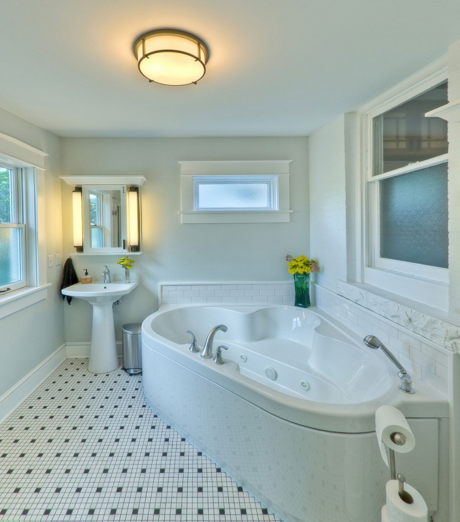 Beaufiful Finished Bathroom Ideas Pictures    White Black High     Finished Bathroom Ideas Home Design