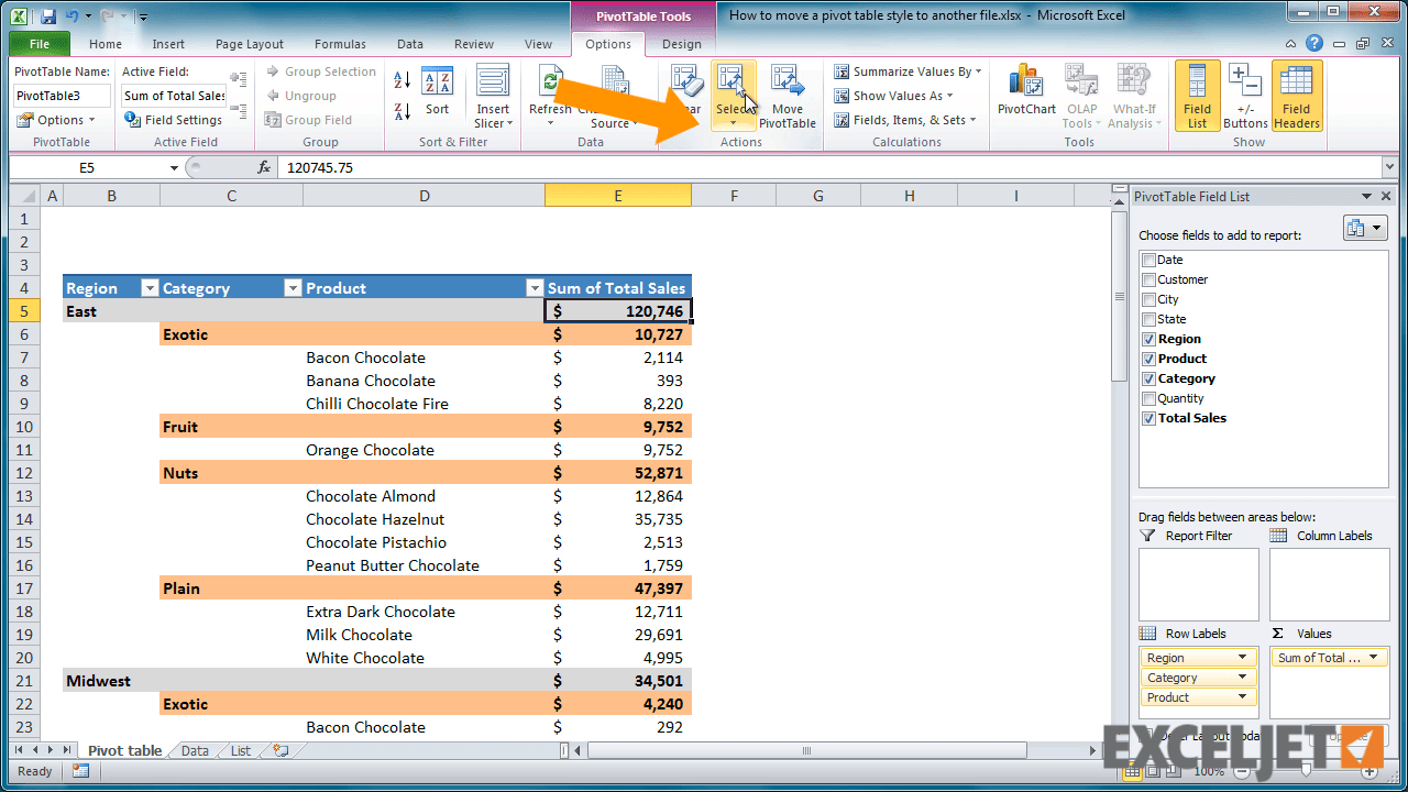 Excel Tut I L How To Move Pivot T Ble Style To Her File