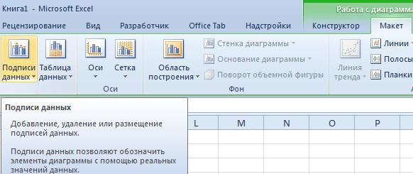 Подписи данных.
