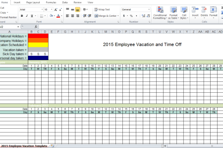 employee vacation tracker excel template 2017 top american artist