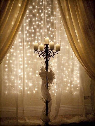 Decorating Ideas For Your Windows This Holiday Season Lighting Behind Sheer Curtains