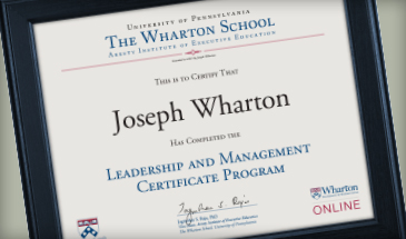 Leadership and Management Certificate Program Online   Wharton Benefits for Executives