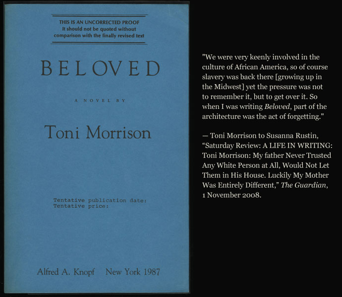african slavery in beloved by toni morrison