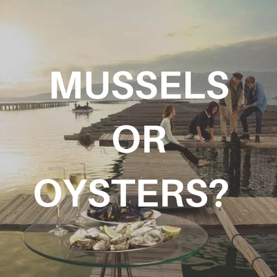Mussels or oysters