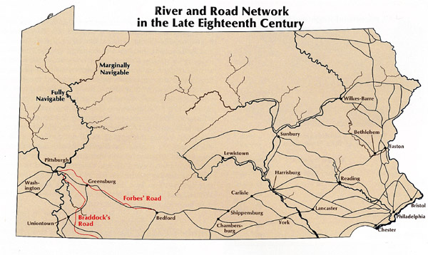 S Streams Rivers Map Lakes And Pennsylvania