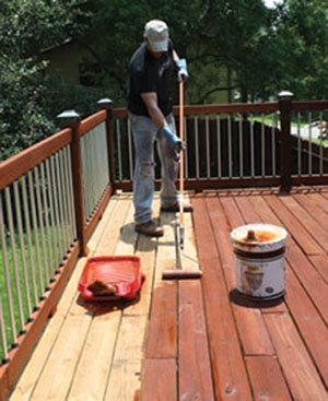 Exterior Wood Care For Pressure Treated Lumber Extreme How To | Pressure Treated Wood Handrail | Menards | Deck Handrail | Cedartone Premium | Treated Pine | Treated Deck Stairs
