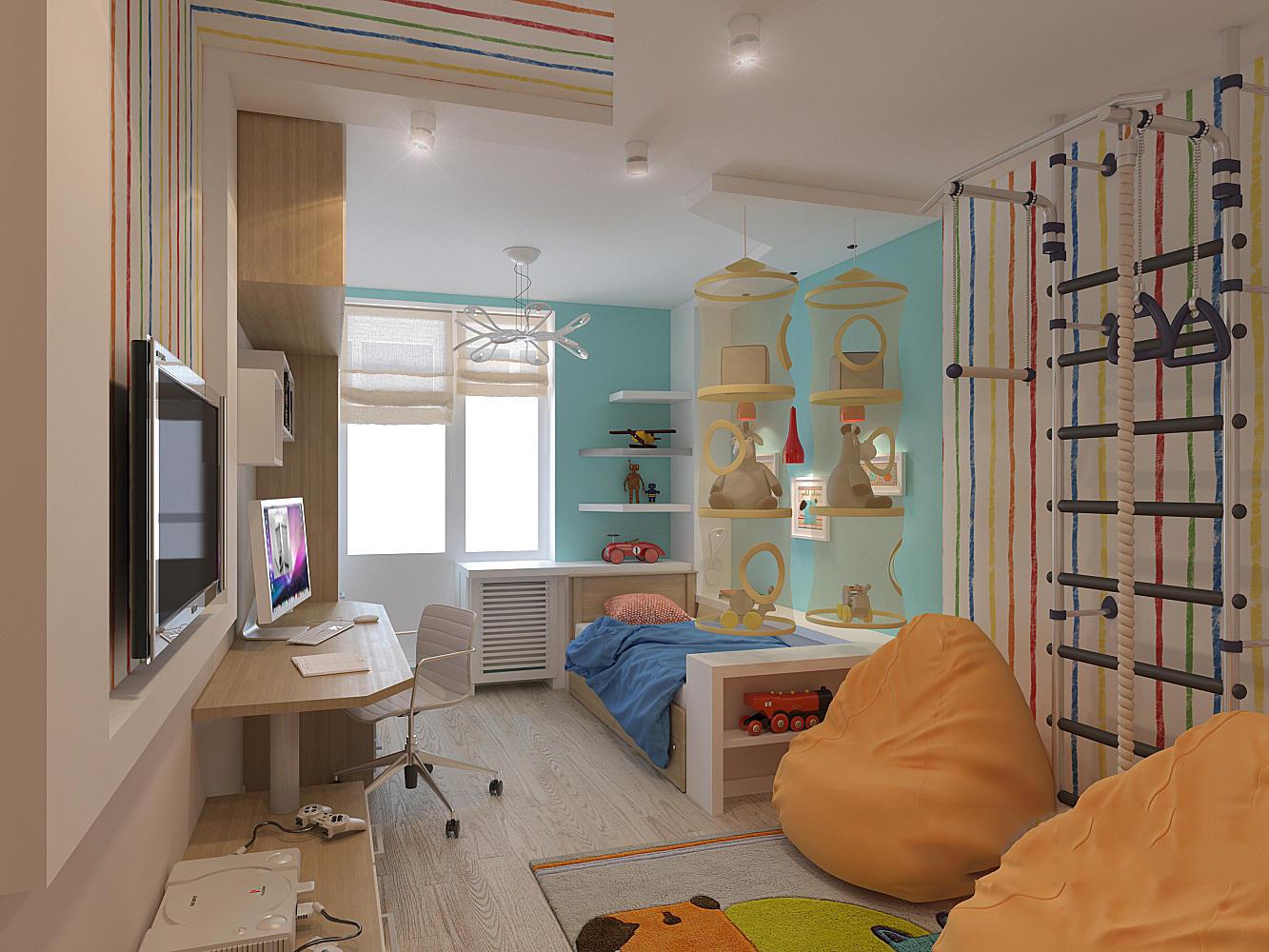 Kinderzimmer 12 Quadratmeter. m: 4 Möglichkeiten den Raum zu
