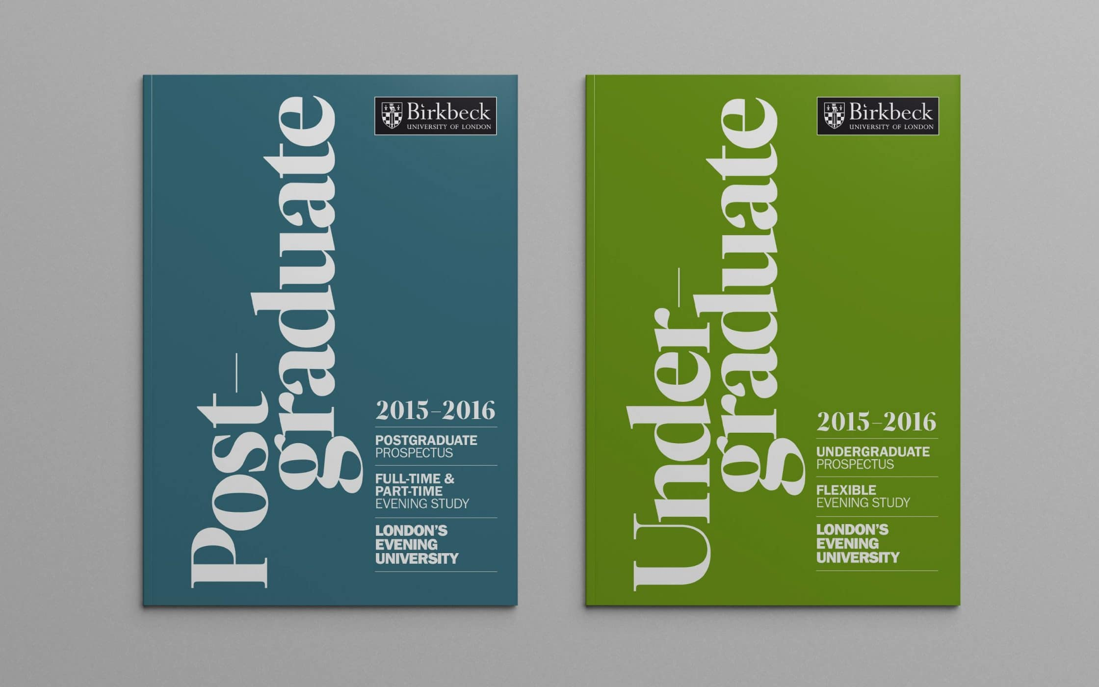 Birkbeck University Prospectus Design By Fabrik Brands London