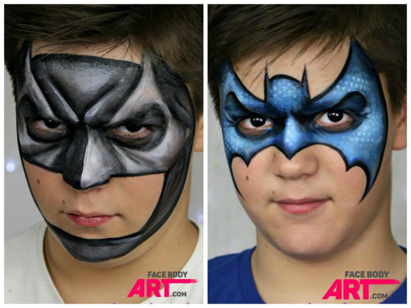 TOP 10 must learn face painting designs  and  1 more  Batman   face painting design