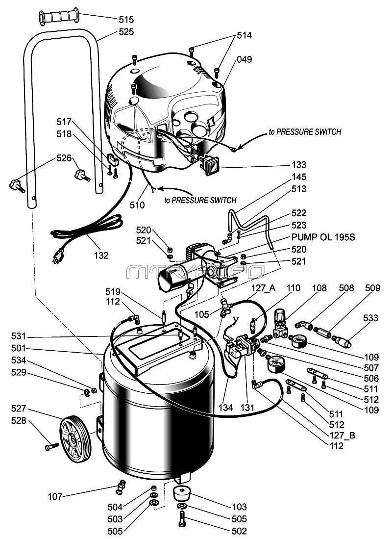 Dorable craftsman air pressor wiring diagram embellishment