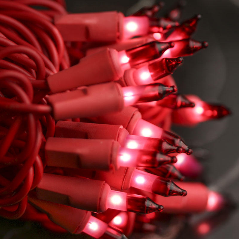 Red Tipped Christmas Light Bulbs