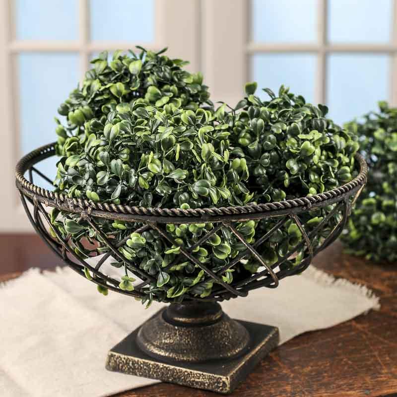 Black And Gold Mesh Pedestal Bowl Vase And Bowl Fillers Home Decor