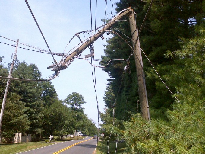 June 29  2012 Storm   Fairfax County Emergency Information broken power line