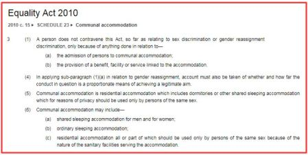 the equality act 2010 right to single sex spaces fair play for women