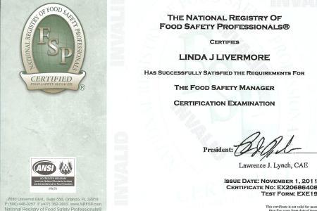 References on Resume » food manager certification florida ...