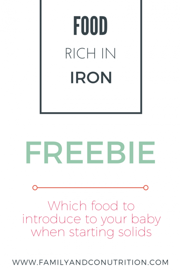 The importance of iron rich foods for babies learning to ...