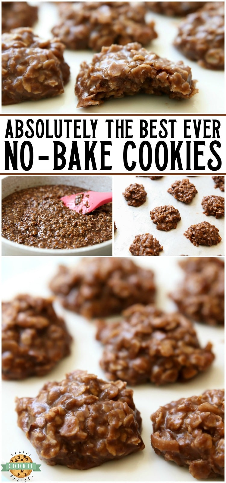 Easy No Bake Cookiesare simple, oatmeal chocolate cookies that don't require baking time! I've tried many & this peanut butter no bake cookies recipeis the absolute BEST. via @buttergirls