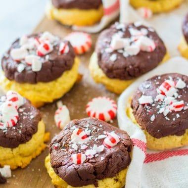 Peppermint Fudge Sugar Cookie recipe
