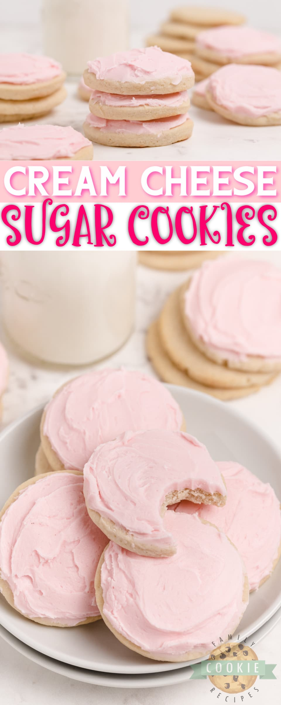 Cream Cheese Sugar Cookies are soft, thick and easily the best sugar cookie recipe I've ever tried. These sugar cookies hold their shape when baked and they are moist and perfectly sweet too! via @buttergirls