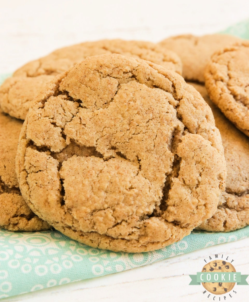 Cinnamon Oatmeal Cookies are soft, chewy and packed with oat flour and ground cinnamon. My new favorite oatmeal cookie recipe!