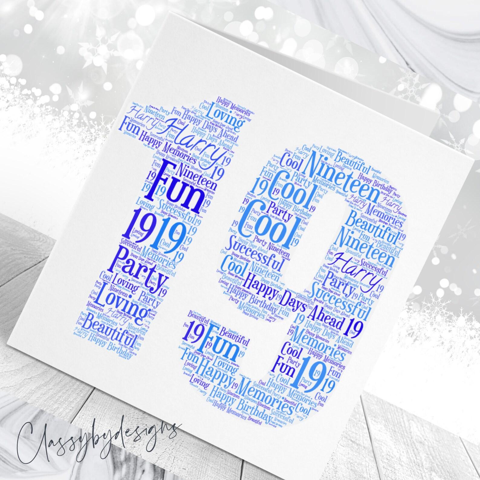 personalised customised wordcloud art card specialcard birthdaycard