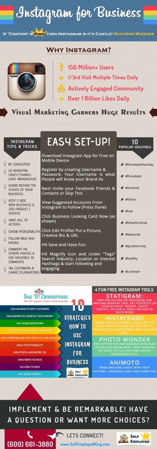 instagram business infographic