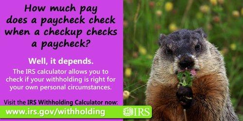 MondayMotivation PaycheckCheckup IRS