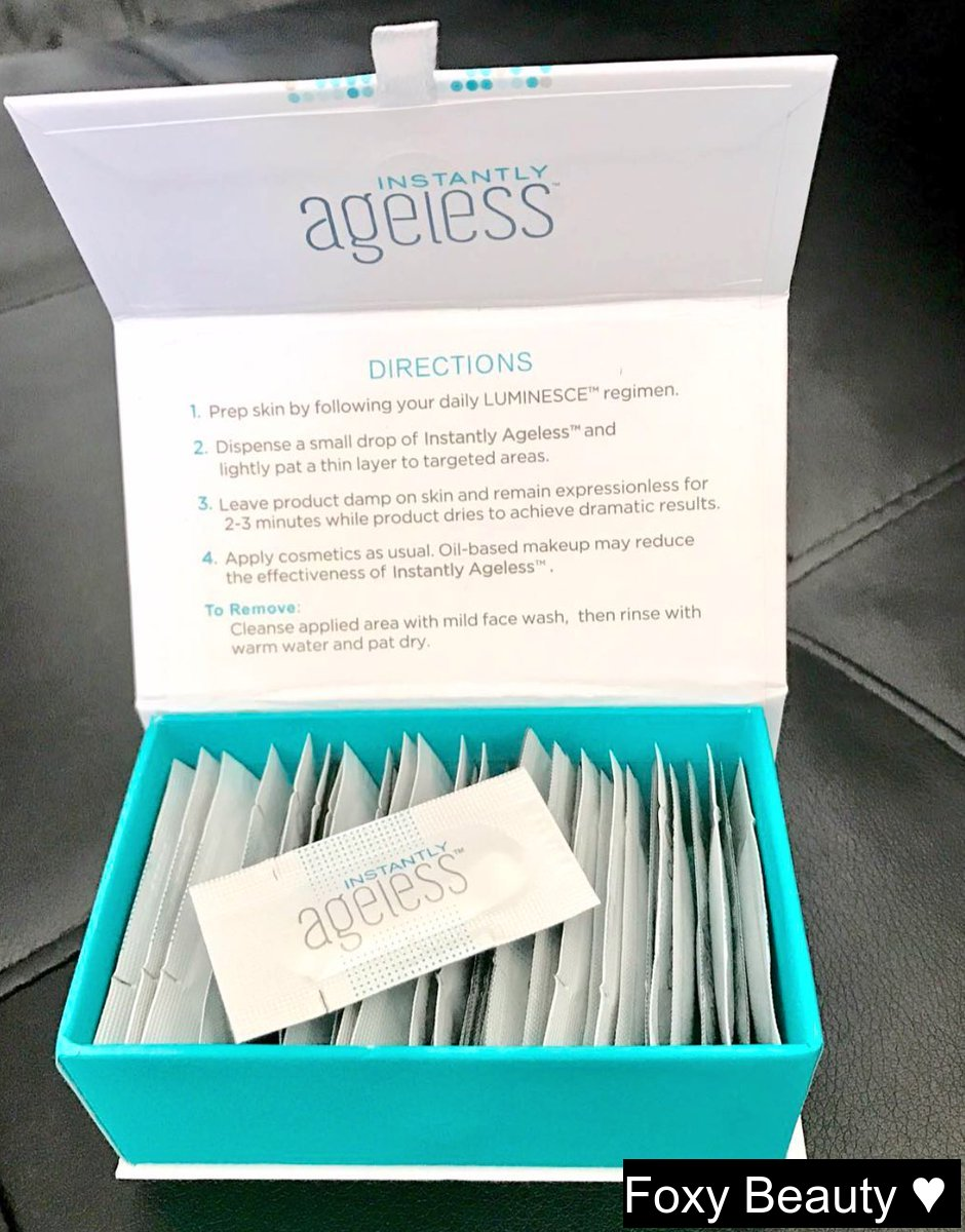 instantlyageless youthinapacket ageless beauty skincare lookyounger botox nobotox
