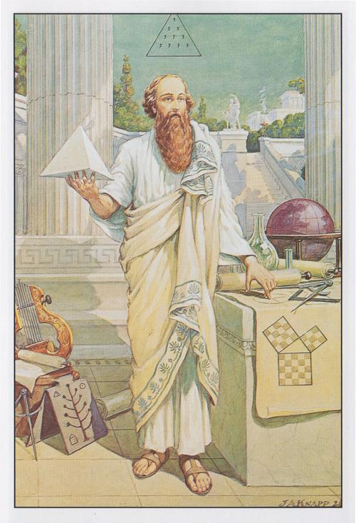 JAKnapp johnaugustusknapp occult cartoonist pythagoras math sacredgeometry magick magic numerology power mathematics collincolsher theorem