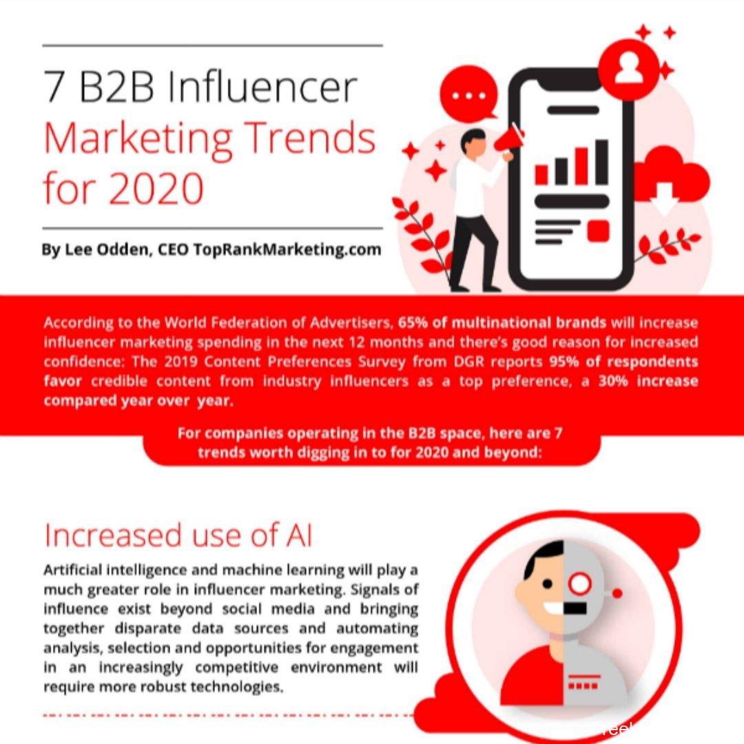 #Infographic: 7 key #B2B influencer trends    #SMM #SocialMedia #AAMKT