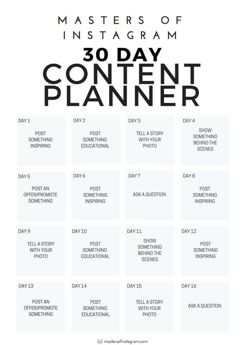 30 Day Instagram Content Planner by Masters of Instagram on   **Only FREE available from 11-Dec-2017 till 17-Dec-2017** #free #stuff freebies #creativemarket #deals #dealoftheday #freegoods #ideas #inspiration #social #socialmedia #media #socialmediamarketing #instagram