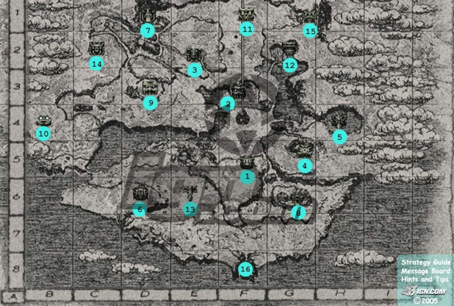Shadow of the Colossus  2005    Colossus Locations Map