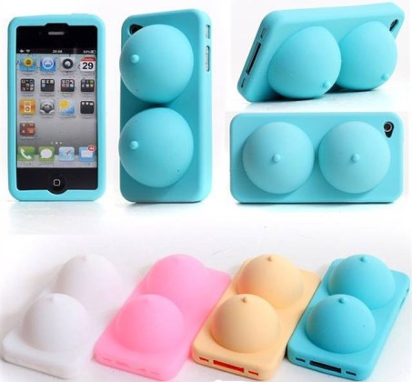 Really cool random funky weird iPhone accessories from China     iphone 4 silicone titty cases    I am sure the nude color one is a real hit  with guys who have a thing for boobs