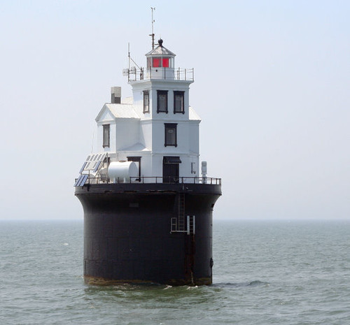 Fourteen Foot Bank Lighthouse In The Delaware Bay Last