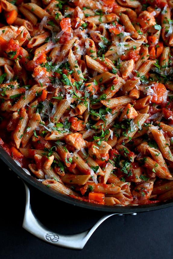 Grain Pasta Red Sauce Whole