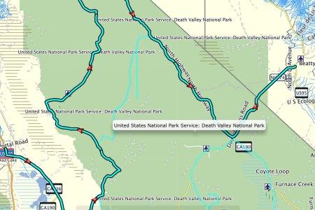 death valley road map » ..:: Edi Maps ::.. | Full HD Maps