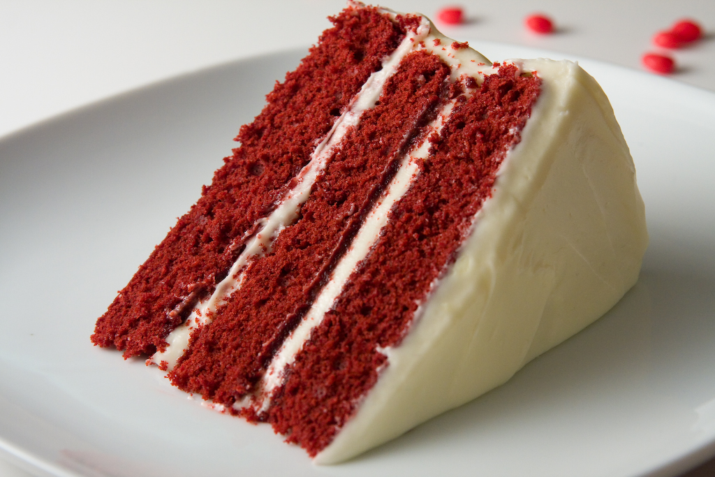 There Chocolate Red Velvet Cake