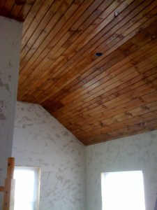 Wood Ceiling 101  How To Install Tongue   Groove Paneling   DIYdiva ceiling done lowres