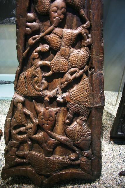 Carving Viking Ship Ancient Wood